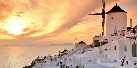 Oia på Santorini, Grækenland.