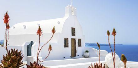 Kirke i Oia på Santorini, Grækenland.