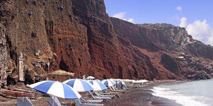 Red Beach på Santorini, Grækenland.