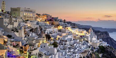 Fira på Santorini, Grækenland.