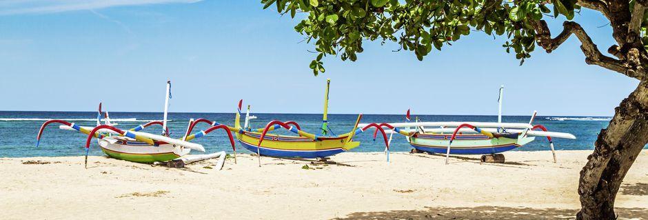 Sanur Beach på Bali.