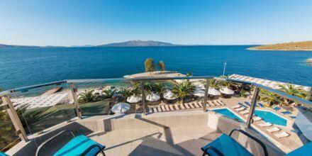 Dobbeltværelse med havudsigt på Hotel Saranda Palace i Albanien