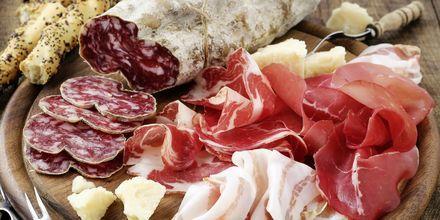 Lækker mad på Sardinien.