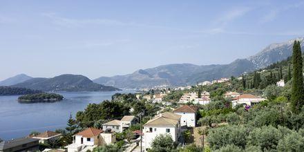 Udsigt fra Hotel Scorpios på Lefkas, Grækenland
