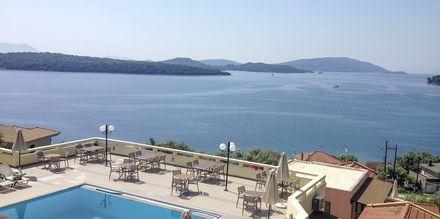 Poolområde på Hotel Scorpios på Lefkas, Grækenland
