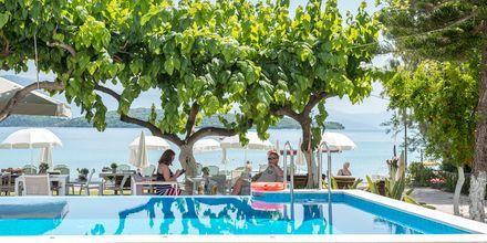 Pool på Hotel Seaview på Lefkas, Grækenland.