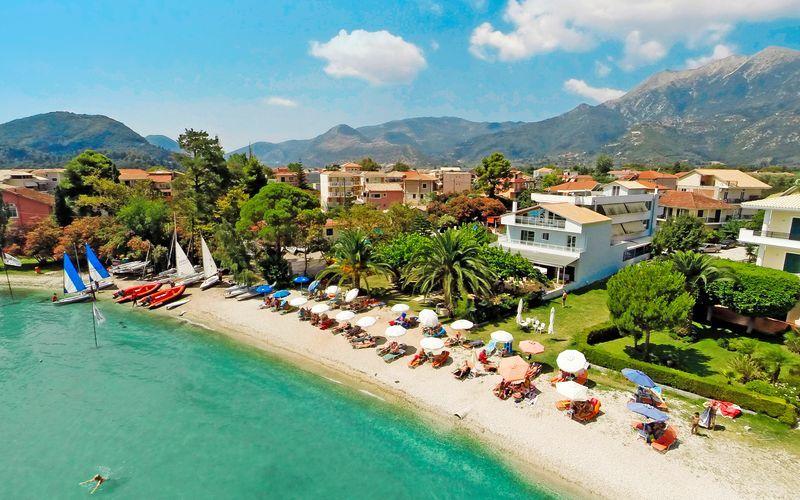 Stranden ved Hotel Seaview på Lefkas, Grækenland.