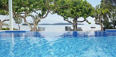 Poolområde på Hotel Seaview på Lefkas, Grækenland.