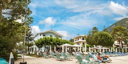 Strand ved Hotel Seaview på Lefkas, Grækenland.