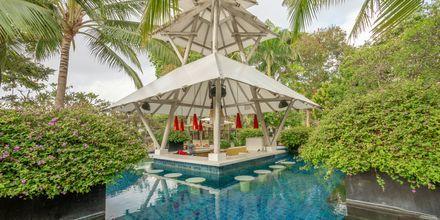 Poolbar på Hotel Segara Village, Bali, Indonesien.