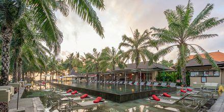 Poolområde på Hotel Segara Village, Bali, Indonesien.