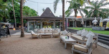 Café på Hotel Segara Village, Bali, Indonesien.