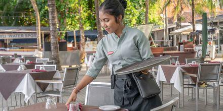 Cafe på Hotel Segara Village, Bali, Indonesien.