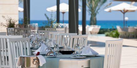 Restaurant på Hotel Aegean Pearl på Kreta, Grækenland.