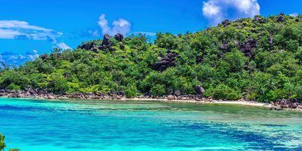 Øen Praslin er den med flest indbyggere i Seychellerne.