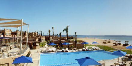 Poolområdet på Hotel Shams Prestige Abu Soma i Soma Bay, Egypten.