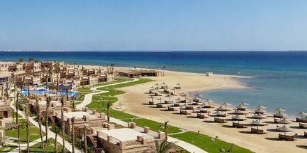 Stranden ved Hotel Shams Prestige Abu Soma i Soma Bay, Egypten.
