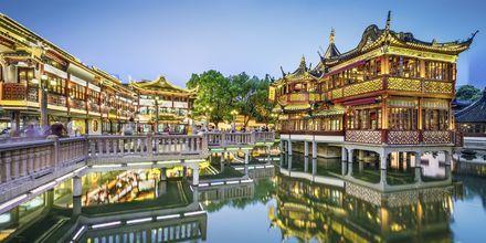 Yuyuan Gardens er en offentlig par i Shanghai, anlagt i 1559.