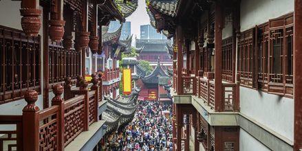 Markedet Yuyuan Market i Shanghais gamle bydel, ved City God Temple.