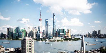 Shanghai er kendt for sine mange skyskrabere.