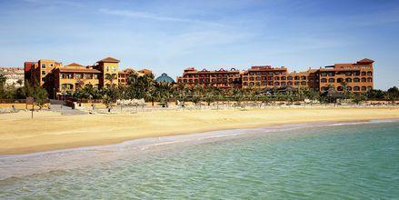 Stranden ved Hotel Sheraton Fuerteventura Beach, Golf & Spa Resort på Fuerteventura, De Kanariske Øer, Spanien.