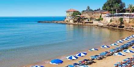 Strand i Side i Tyrkiet.