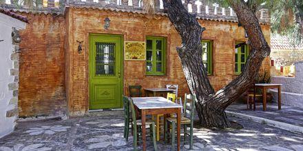 Cafe på Sirena Residence & Spa på Samos, Grækenland