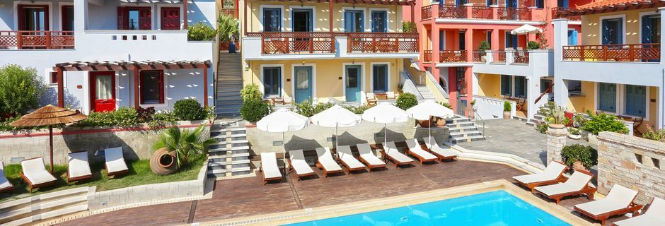 Pool på Sirena Residence & Spa på Samos, Grækenland