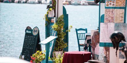 Restaurant ved havet i Sitia på Kreta, Grækenland