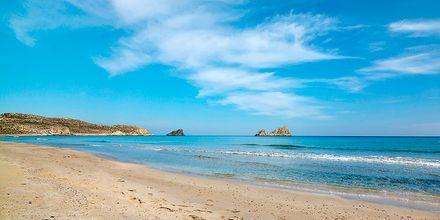 Strand, Sitia på Kreta, Grækenland.