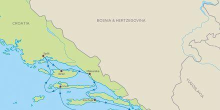 Skærgårdskrydstogt i Kroatien med Bella