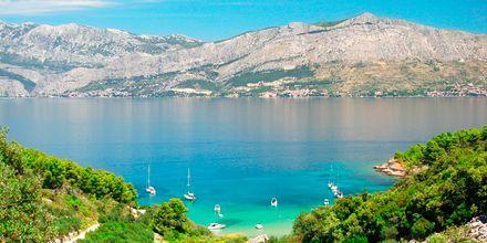 Lovrecina-stranden på Brac, Kroatien.