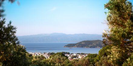 Oversigt over sydkysten på Skiathos