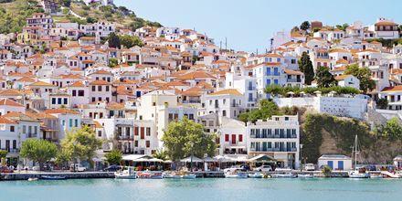 Den gamle havn i Skopelos , Grækenland.