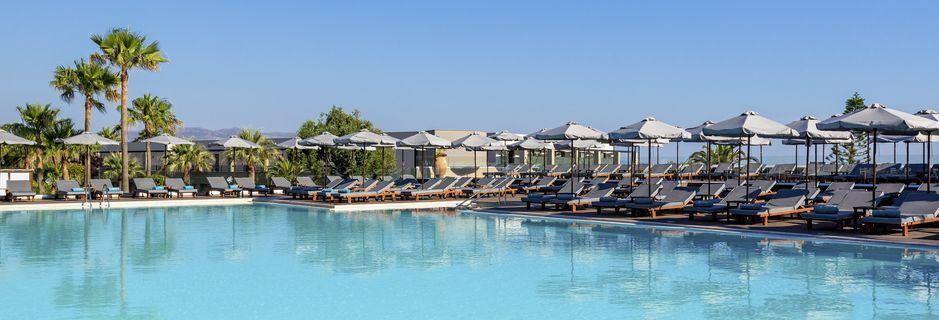 Poolområdet på hotel Solimar Aquamarine i Gerani på Kreta.