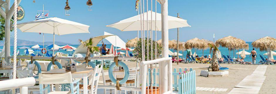 Restaurant på Hotel Sonio Beach i Platanias på Kreta, Grækenland.