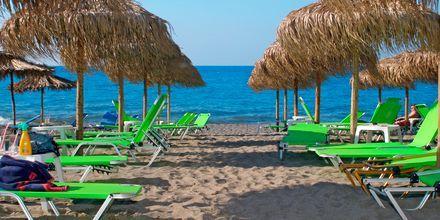 Stranden ved Hotel Sophia Beach i Platanias på Kreta, Grækenland.