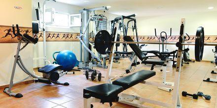 Fitnessrum på hotel Ideal Beach på Kreta, Grækenland.