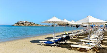 St. George-stranden er den nærmest strand fra Hotel Spiros i Naxos by, Grækenland