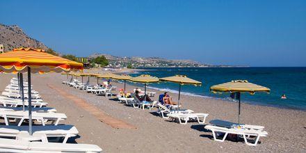 Stranden ved Hotel St. James på Rhodos, Grækenland