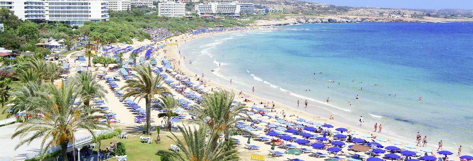 Stranden ved hotel Stamatia, Ayia Napa.