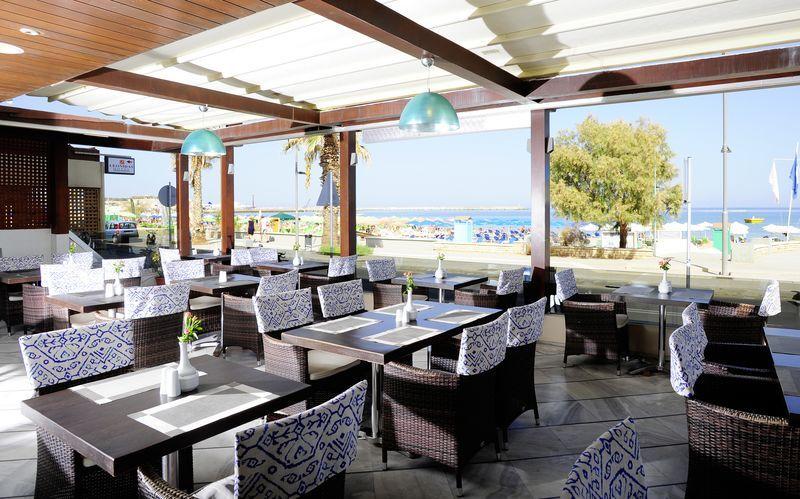 Restaurant på Hotel Steris i Rethymnon by på Kreta, Grækenland.