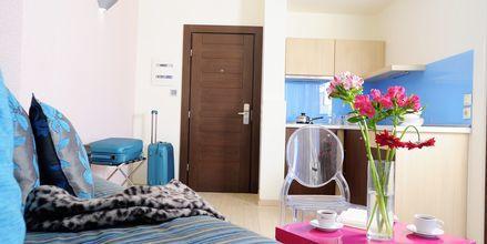 2-værelses lejlighed på Hotel Steris i Rethymnon by på Kreta, Grækenland.