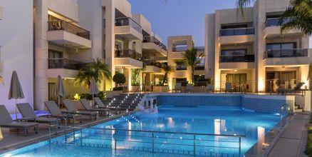 Poolområde på hotel Summertime i Platanias, Kreta