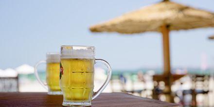 Strandbar i Sunny Beach, Bulgarien.