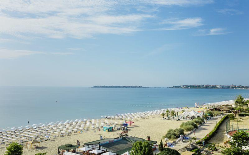 Stranden i Sunny Beach, Bulgarien.