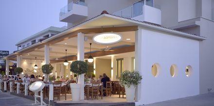 Den græske restaurant Kyklos, ca. 15 min. gang fra hotel Sunrise Jade i Fig Tree Bay, Cypern