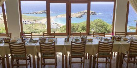 Restaurant på Hotel Sunset i Lefkos på Karpathos, Grækenland.
