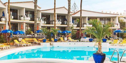 Poolområde på Hotel Sunsuites Carolina på Gran Canaria, De Kanariske Øer.