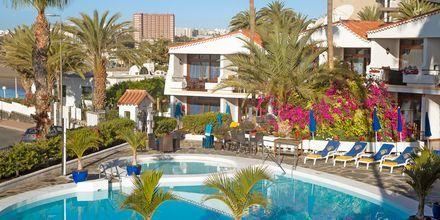 Poolområdet på Hotel Sunsuites Carolina på Gran Canaria, De Kanariske Øer.